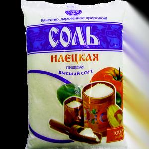 Соль поваренная пищевая молотая Илецкая в/с, 1 кг.