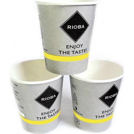 Стакан бумажный Rioba, 200мл*50шт