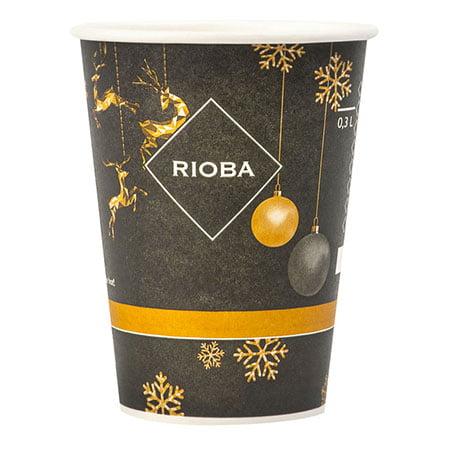 Стакан бумажный Rioba 300мл*50шт