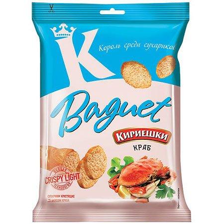 Сухарики «Кириешки Baguet» Краб 50г