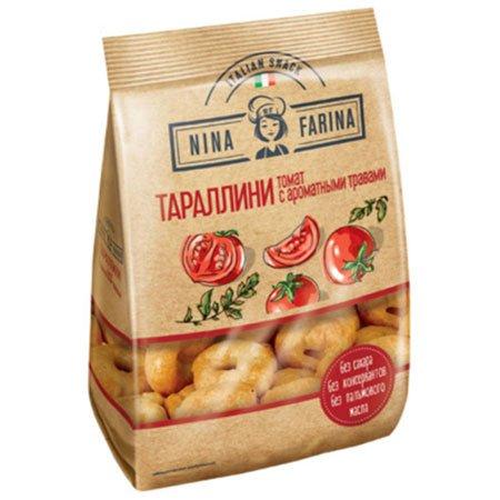 Тараллини «Nina Farina» томат и ароматные травы 180г