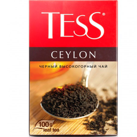 Чай Тесс (Tess) Цейлон черный листовой 100гр