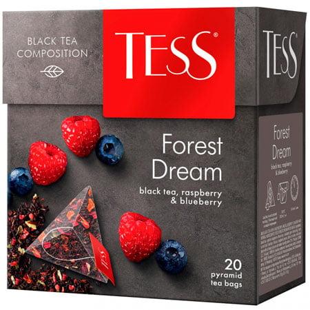 Чай Тесс (Tess) Форест Дрим чёрный 20 пирамидок