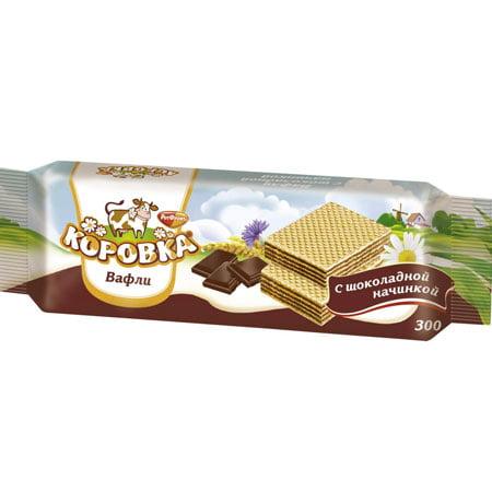 Вафли Рот Фронт Коровка шоколад 300гр