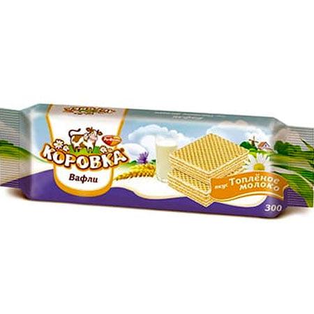 Вафли Рот Фронт Коровка топлёное молоко 300гр