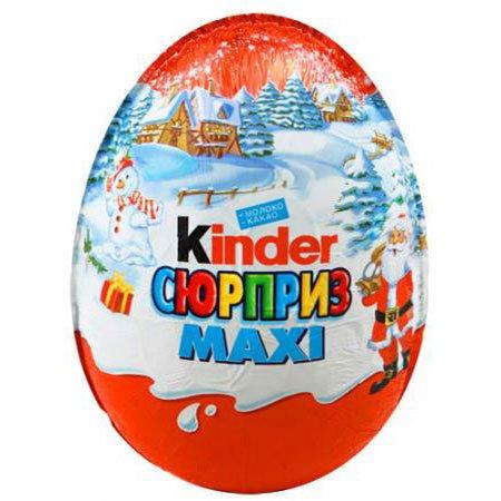 Киндер сюрприз Яйцо шоколадное Maxi Новый год для мальчиков 220грх6шт