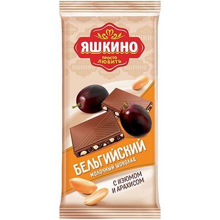 Шоколад «Яшкино» Молочный с изюмом и арахисом, 85 г