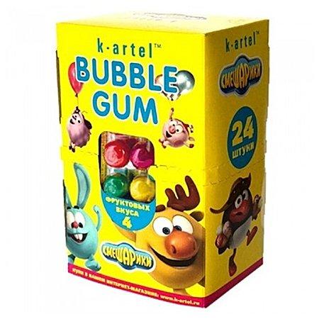Жевательная резинка Bubble Gum Смешарики ассорти 24шт