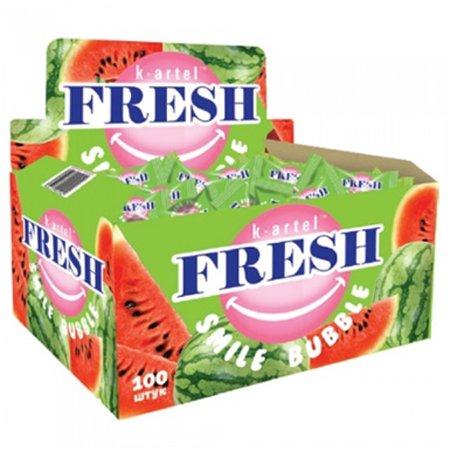 Жевательная резинка Fresh Smile Bubble Арбуз 3гр.х100шт