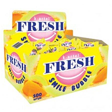 Жевательная резинка Fresh Smile Bubble Дыня 3гр.х100шт
