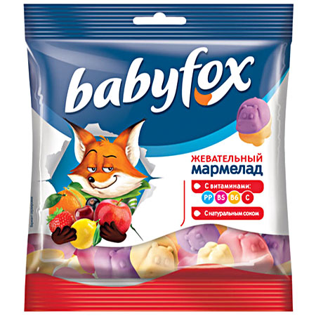 Жевательный мармелад «Babyfox» Бегемоты 30г.