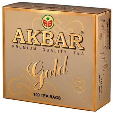 Чай Акбар Золотой 100 пакетиков