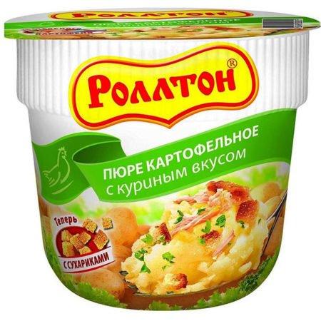 Картофельное пюре Роллтон с куриным вкусом 40 грамм