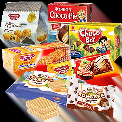 Печенье, вафли, крекеры, рулеты, бисквиты, пряники