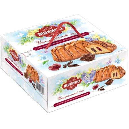 Кекс Яшкино с Вишнёвым и шоколадным кремом