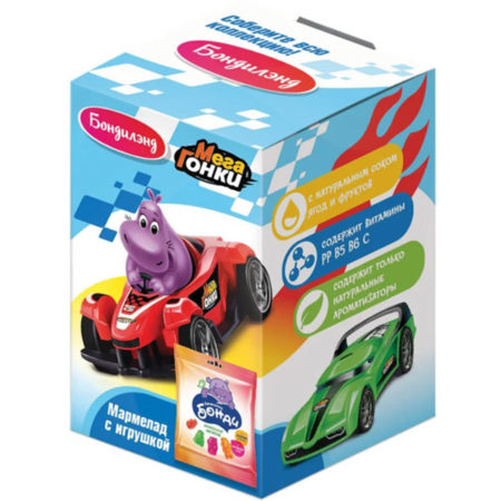 Мармелад с игрушкой «Бондилэнд» серия «МегаГонки»