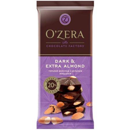 Шоколад O`Zera горький с миндалем Dark&Extra Almond