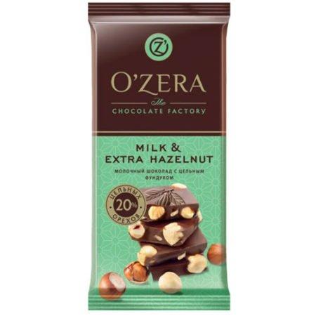 Шоколад O`Zera молочный с фундуком Milk&Extra Hazelnut