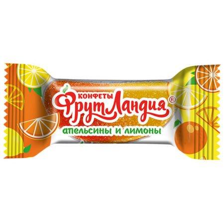 Конфеты Фрутландия Апельсины и Лимоны Славянка