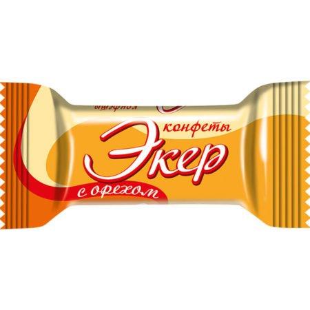 Конфеты Шоколадный Экер с орехом