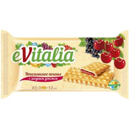 Печенье Evitalia итальянское с ягодным джемом