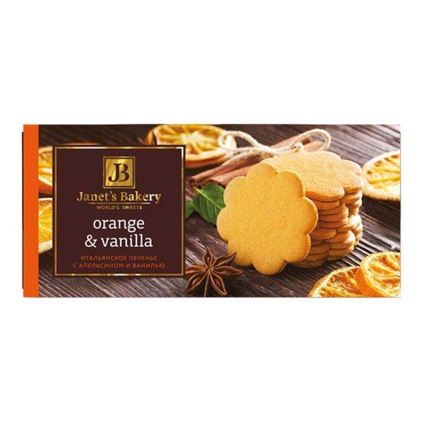 Печенье Janet'sBakery итальянское с ванилью и апельсином