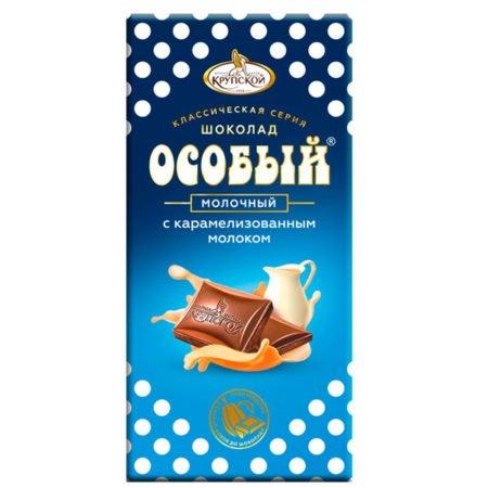 Шоколад Крупская молочный Особый карамель