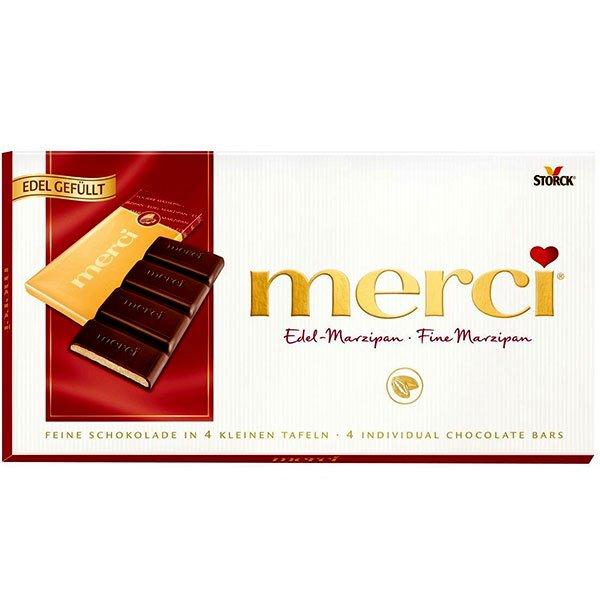 Шоколад Мерси (Merci) марципан