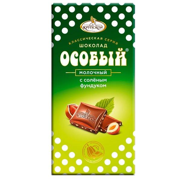 Шоколад Особый молочный с соленым фундуком