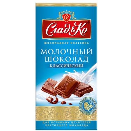 Шоколад молочный Сладко