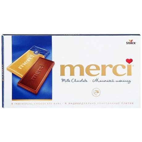 Шоколад Мерси (Merci) молочный