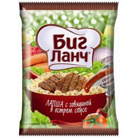Биг Ланч Лапша Говядина в остром соусе