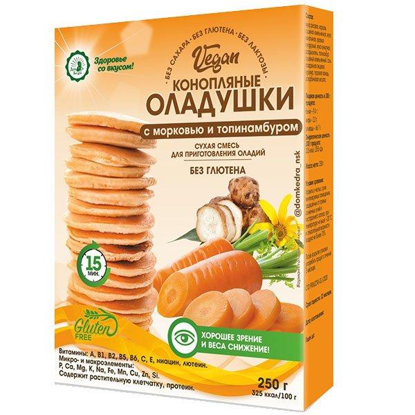 Конопляные-оладушки-морковь-топинамбур