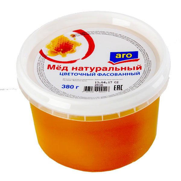 Мед ARO натуральный цветочный 380 грамм